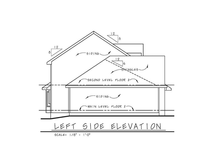 Home Plan Left Elevation of this 3-Bedroom,2264 Sq Ft Plan -120-2637