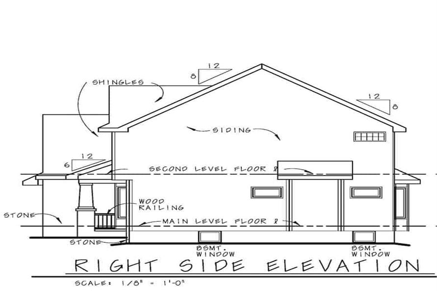 Home Plan Right Elevation of this 3-Bedroom,2264 Sq Ft Plan -120-2637