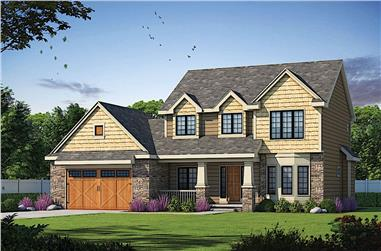 3-Bedroom, 2264 Sq Ft Traditional House - Plan #120-2637 - Front Exterior