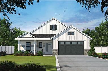 3-Bedroom, 1619 Sq Ft Contemporary House - Plan #120-2638 - Front Exterior