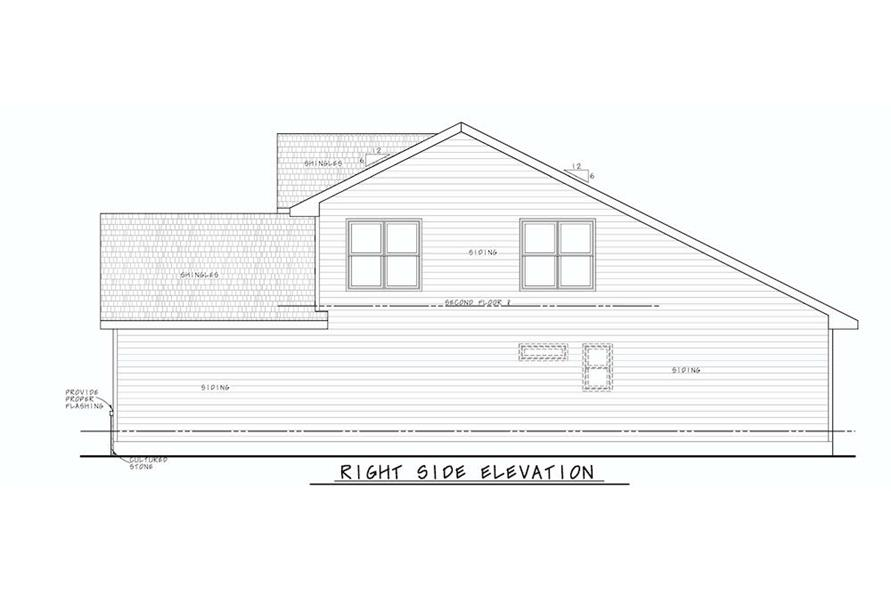 Home Plan Right Elevation of this 4-Bedroom,2154 Sq Ft Plan -120-2640
