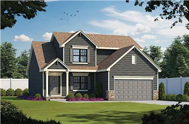4-Bedroom, 2154 Sq Ft Traditional House - Plan #120-2640 - Front Exterior