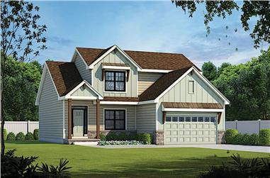 4-Bedroom, 2154 Sq Ft Traditional House - Plan #120-2641 - Front Exterior