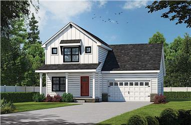 3-Bedroom, 1600 Sq Ft Contemporary Farmhouse - Plan #120-2642 - Main Exterior