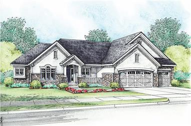 3-Bedroom, 2695 Sq Ft Traditional House - Plan #120-2643 - Front Exterior