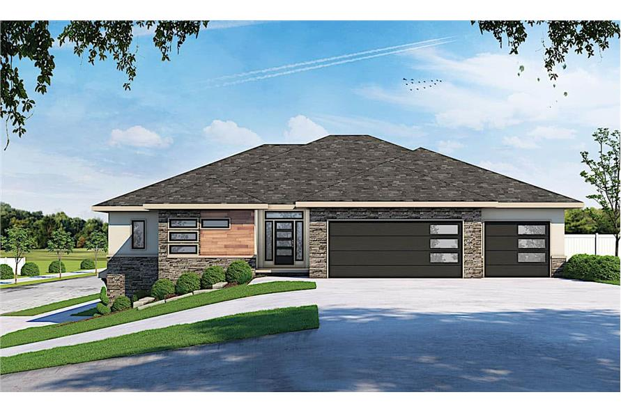 Front View of this 5-Bedroom,3743 Sq Ft Plan -120-2644
