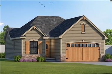 1–2-Bedroom, 1136 Sq Ft Ranch Home - Plan #120-2645 - Main Exterior