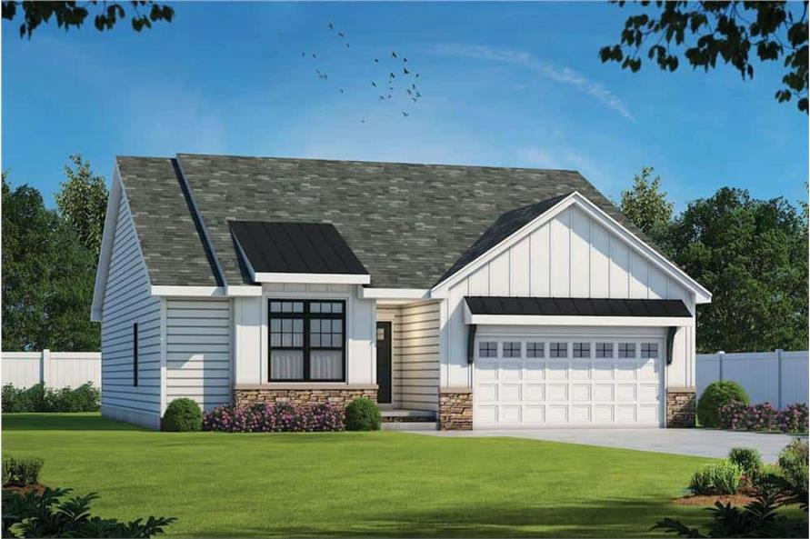 Front View of this 3-Bedroom,1603 Sq Ft Plan -120-2647
