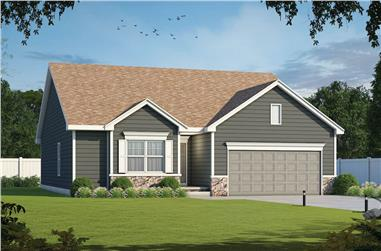 3-Bedroom, 1603 Sq Ft Ranch House - Plan #120-2648 - Front Exterior