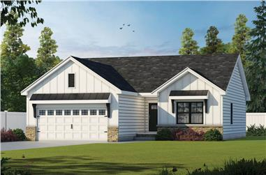 3-Bedroom, 1176 Sq Ft Ranch House - Plan #120-2650 - Front Exterior