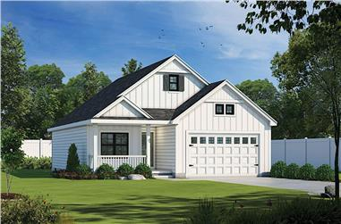 2-Bedroom, 1387 Sq Ft Ranch House - Plan #120-2651 - Front Exterior