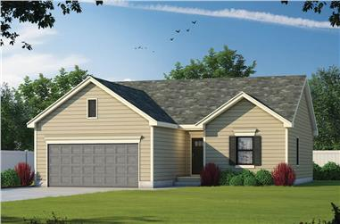 3-Bedroom, 1176 Sq Ft Ranch House - Plan #120-2653 - Front Exterior