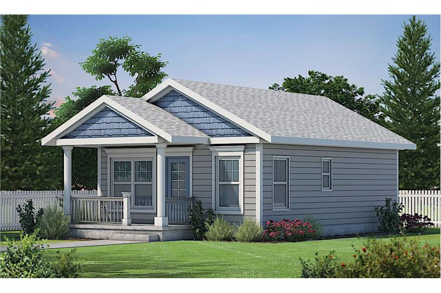 2-Bedroom, 800 Sq Ft Cottage Home - Plan #120-2655 - Main Exterior