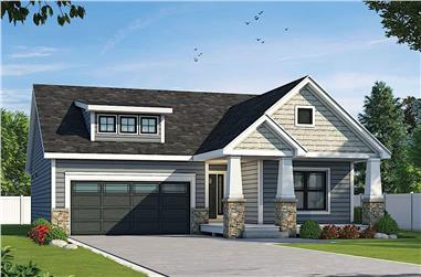 3-Bedroom, 1511 Sq Ft Ranch Home - Plan #120-2656 - Main Exterior