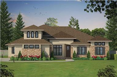 4-Bedroom, 3015 Sq Ft Contemporary House - Plan #120-2659 - Front Exterior