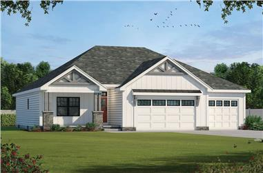 3-Bedroom, 1936 Sq Ft Contemporary Home - Plan #120-2662 - Main Exterior
