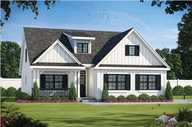 4-Bedroom, 2114 Sq Ft Contemporary House - Plan #120-2665 - Front Exterior