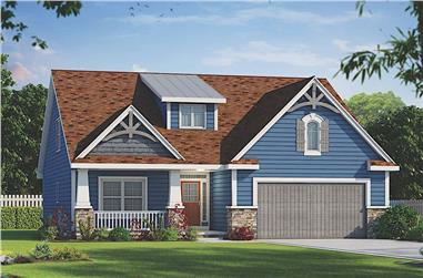 4-Bedroom, 2134 Sq Ft Farmhouse Home - Plan #120-2668 - Front Exterior