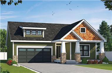 2-Bedroom, 1511 Sq Ft Ranch Home - Plan #120-2669 - Main Exterior