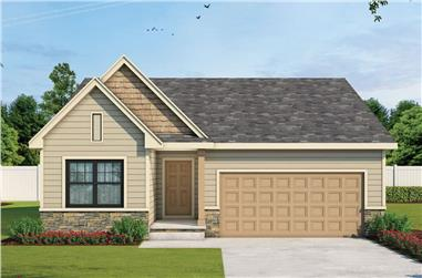 2-Bedroom, 1390 Sq Ft Ranch House - Plan #120-2670 - Front Exterior