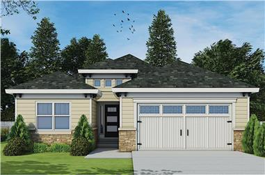 3-Bedroom, 1886 Sq Ft Contemporary Home - Plan - 120-2671# Main Exterior