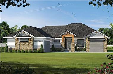 4-Bedroom, 3636 Sq Ft Luxury Home - Plan #120-2673 - Main Exterior