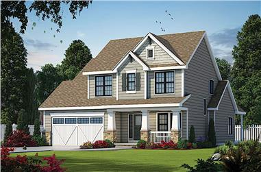 3-Bedroom, 1995 Sq Ft Farmhouse House - Plan #120-2674 - Front Exterior