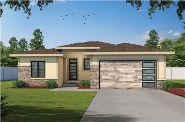 3-Bedroom, 1872 Sq Ft Contemporary House - Plan #120-2675 - Front Exterior