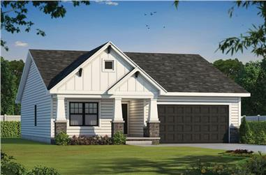 22-Bedroom, 1664 Sq Ft Ranch House - Plan #120-2676 - Front Exterior