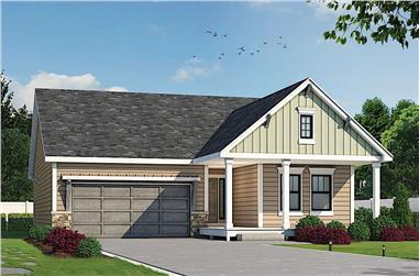 3-Bedroom, 1511 Sq Ft Ranch Home - Plan #120-2677 - Main Exterior