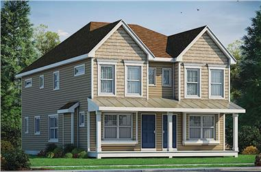 4-Bedroom, 2798 Sq Ft Multi-Unit Home - Plan #120-2679 - Main Exterior