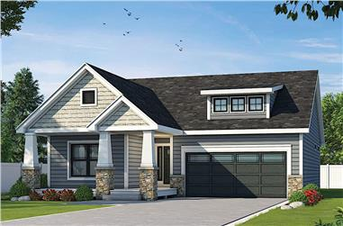 2-Bedroom, 1584 Sq Ft Ranch House - Plan #120-2680 - Front Exterior
