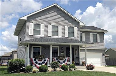 4-Bedroom, 1826 Sq Ft Traditional Home - Plan #120-2681 - Main Exterior