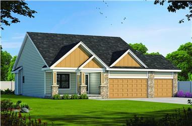 2-Bedroom, 1471 Sq Ft Ranch Home - Plan #120-2683 - Main Exterior