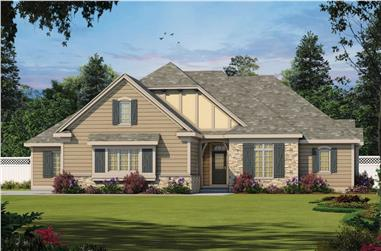 4-Bedroom, 2709 Sq Ft Southern House - Plan #120-2684 - Front Exterior