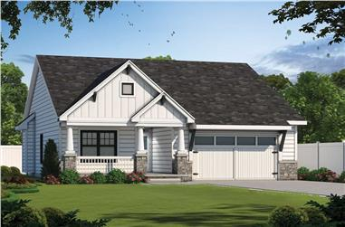 4-Bedroom, 2506 Sq Ft Ranch House - Plan #120-2687 - Front Exterior