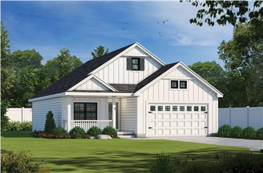 2-Bedroom, 1387 Sq Ft Ranch House Plan - 120-2688 - Front Exterior
