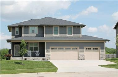 4-Bedroom, 2321 Sq Ft Traditional Home - Plan #120-2689 - Main Exterior