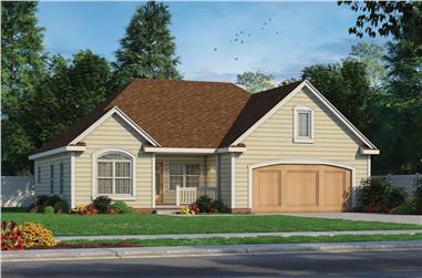3-Bedroom, 1413 Sq Ft Ranch House - Plan #120-2691 - Front Exterior