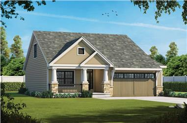 3-Bedroom, 1898 Sq Ft Colonial House - Plan #120-2692 - Front Exterior