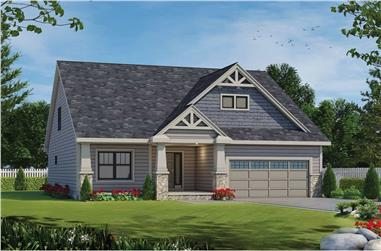 2-Bedroom, 1808 Sq Ft Country House - Plan #120-2694 - Front Exterior