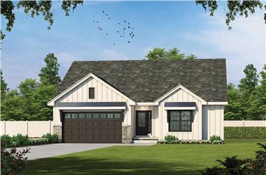 3-Bedroom, 1642 Sq Ft Ranch House - Plan #120-2696 - Front Exterior