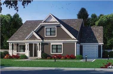 2-Bedroom, 1844 Sq Ft Colonial Home - Plan #120-2697 - Main Exterior