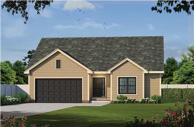3-Bedroom, 1642 Sq Ft Ranch Home - Plan #120-2698 - Main Exterior