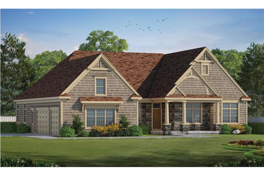 5-Bedroom, 4988 Sq Ft Luxury Home - Plan #120-2701 - Main Exterior