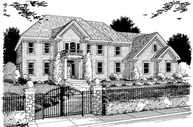 4-Bedroom, 3544 Sq Ft Southern Home Plan - 121-1000 - Main Exterior
