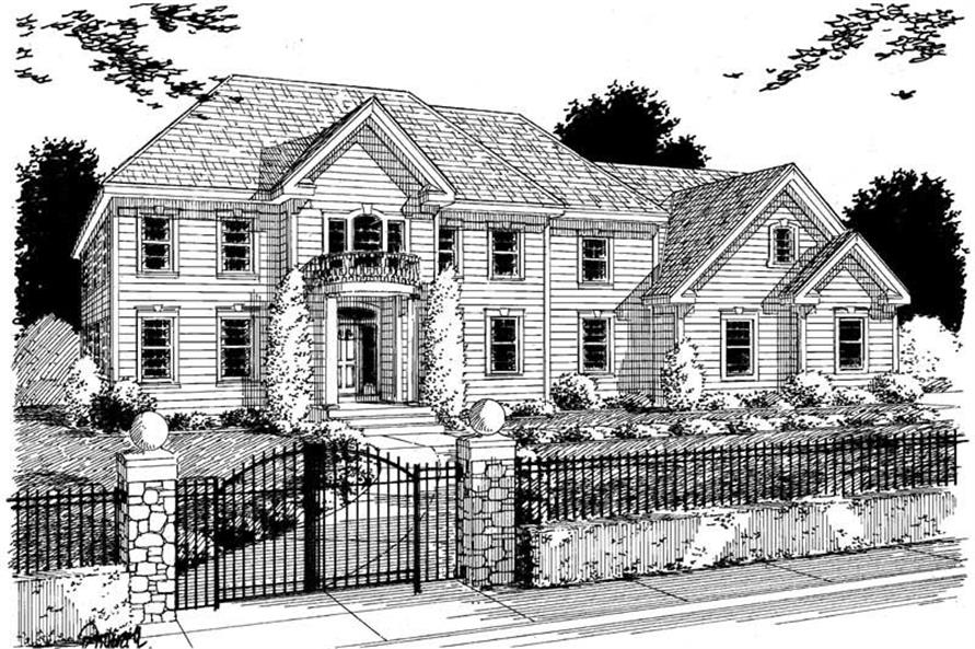 Main image for house plan # 3738