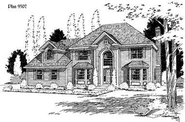 4-Bedroom, 2668 Sq Ft Country House Plan - 121-1002 - Front Exterior