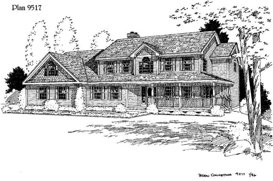 Main image for house plan # 3832