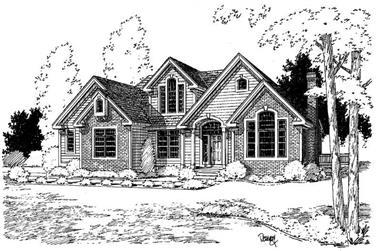 3-Bedroom, 2426 Sq Ft Home Plan - 121-1005 - Main Exterior